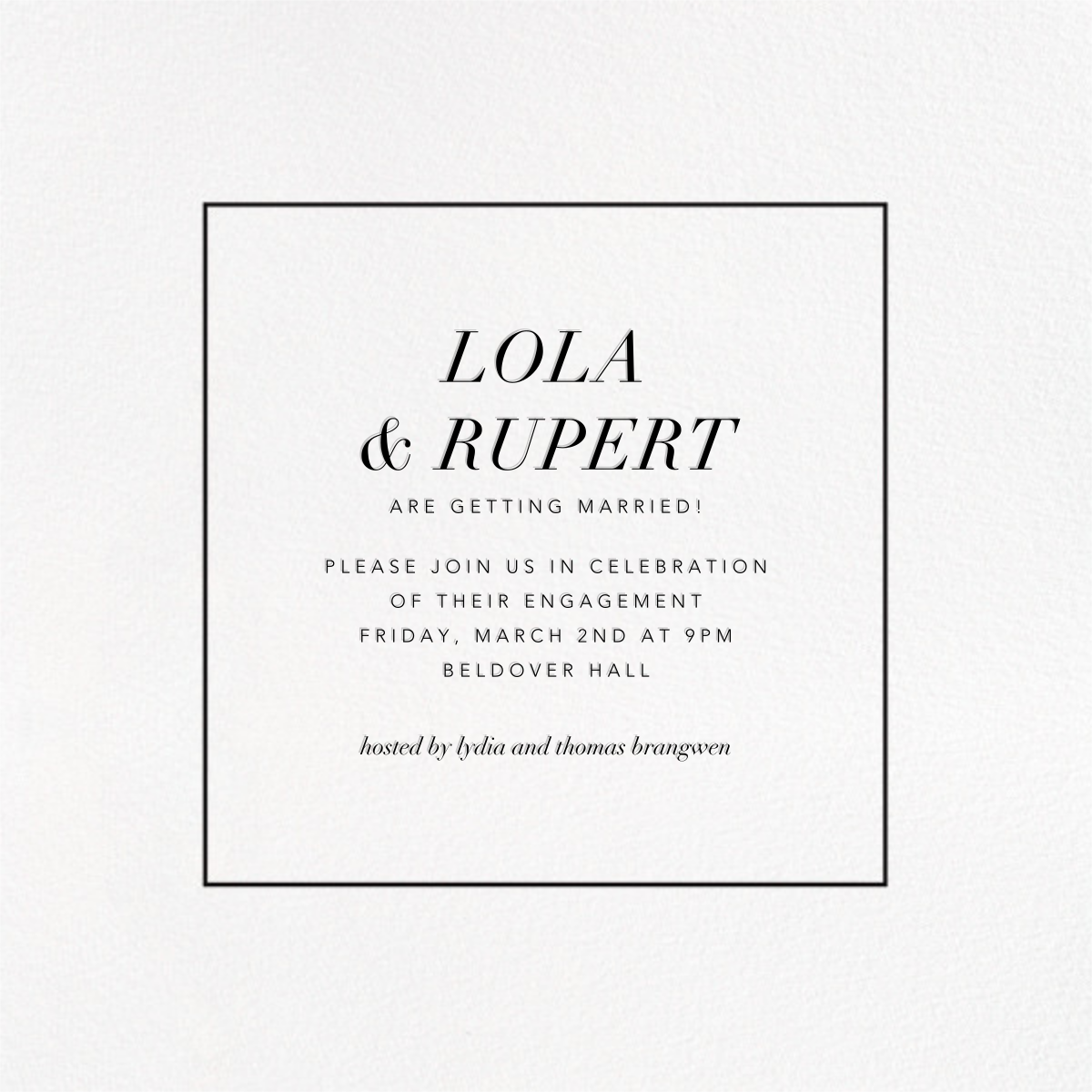 Konfetti (Photo) - Silver - Kelly Wearstler - Engagement party - card back
