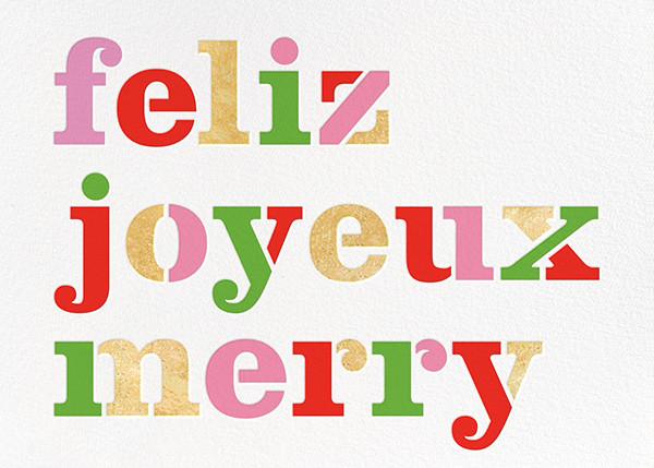 Feliz - kate spade new york - Holiday cards