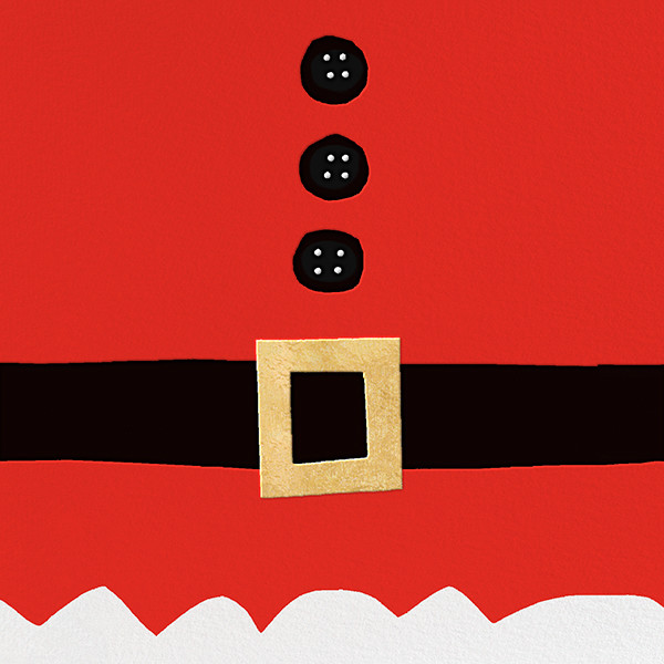 Ho Ho Ho Santa Belt (Invitation) - kate spade new york - Christmas party