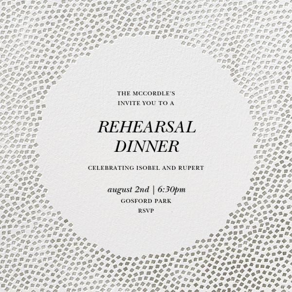 Konfetti - Silver - Kelly Wearstler - Rehearsal dinner