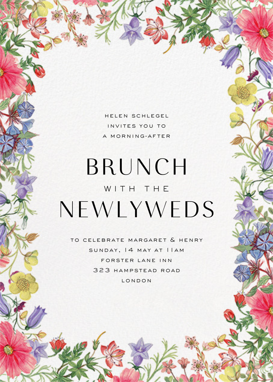 Archival Florals - Liberty - Wedding brunch
