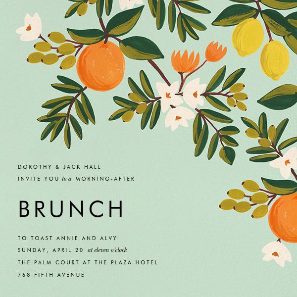 Citrus Orchard - Mint - Rifle Paper Co. - Wedding brunch