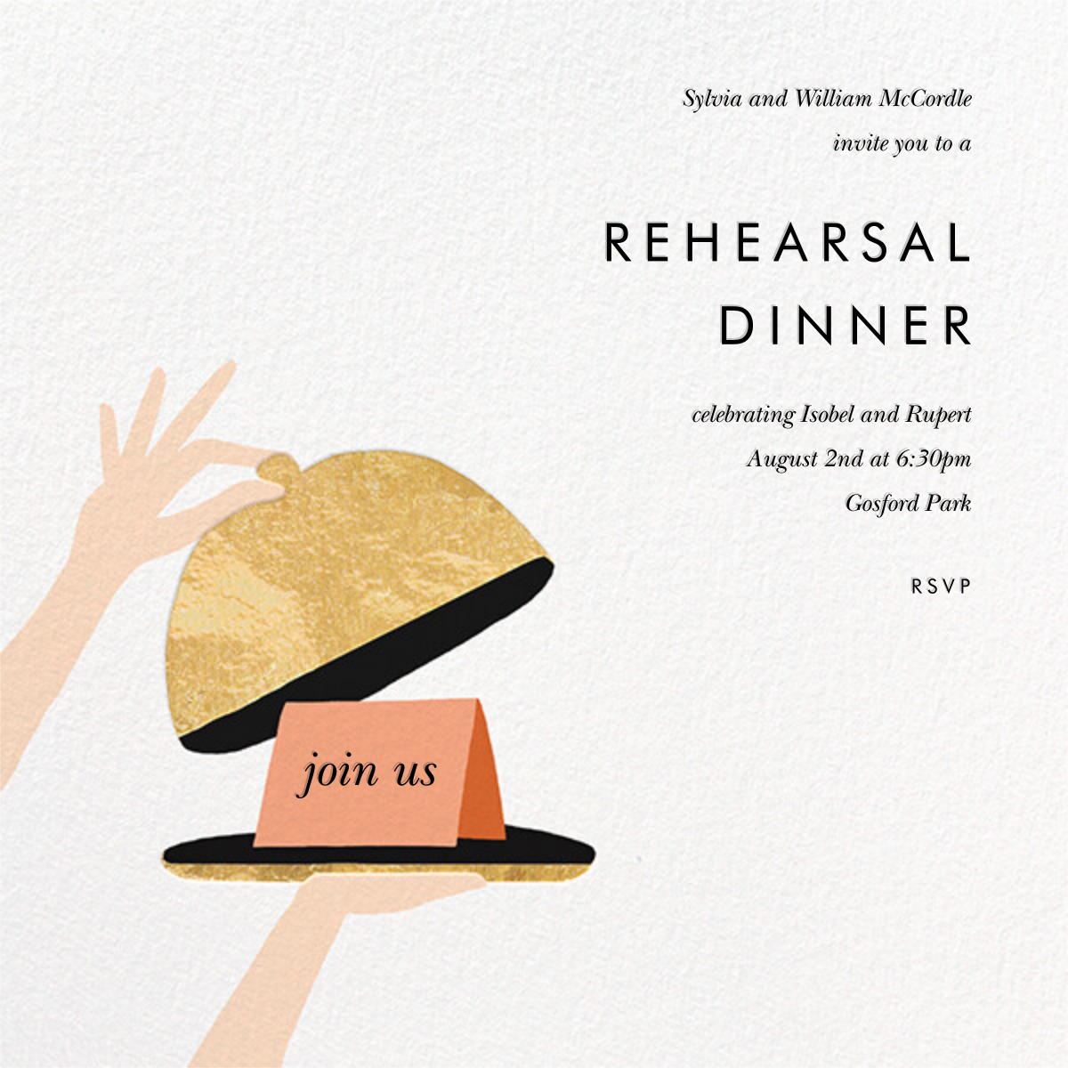 Cloche - Rifle Paper Co. - Rehearsal dinner