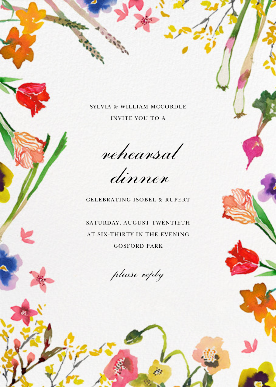 Spring Market (Invitation) - Happy Menocal - Rehearsal dinner