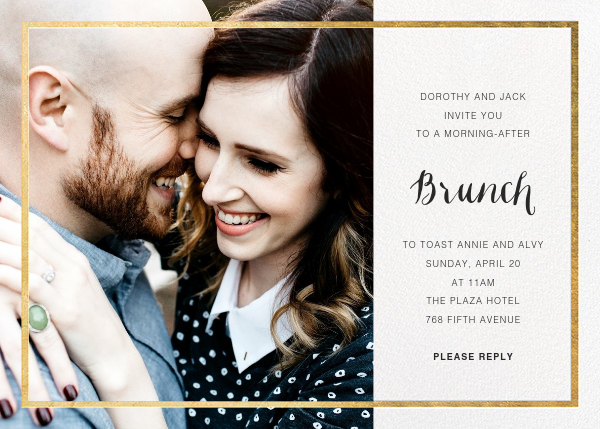 Idylle (Photo) - White/Gold - Paperless Post - Wedding brunch