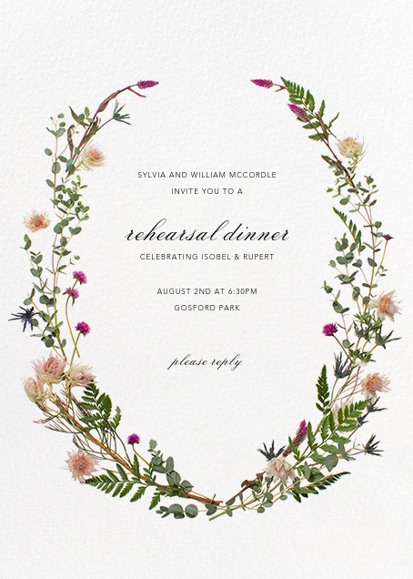 Fleurs Sauvages - Paperless Post - Rehearsal dinner