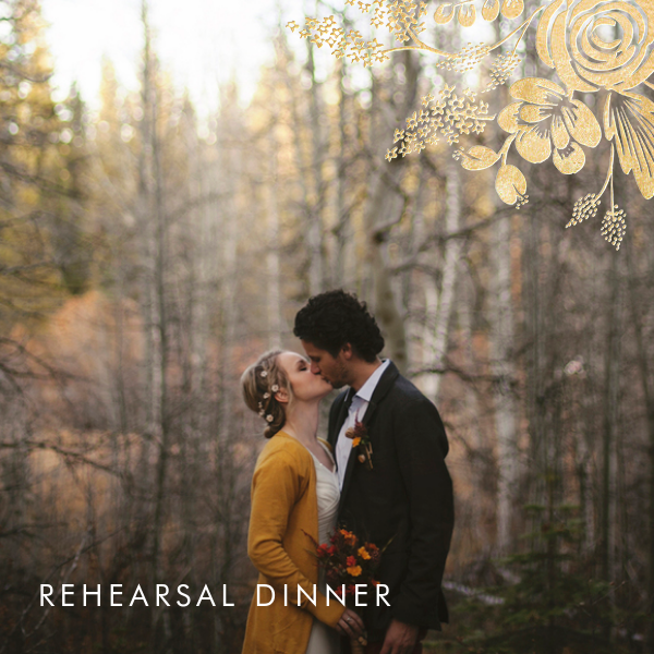 Heather and Lace (Photo) - Gold - Rifle Paper Co. - Rehearsal dinner
