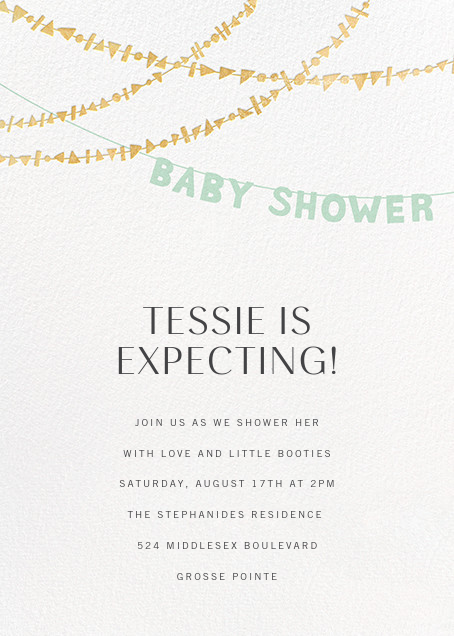 Shower Shapes - Mint/Gold - Paperless Post - Baby shower
