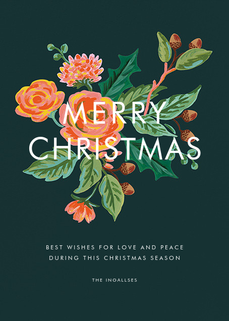 Jardin Noel (Christmas Greeting) - Rifle Paper Co. - Christmas