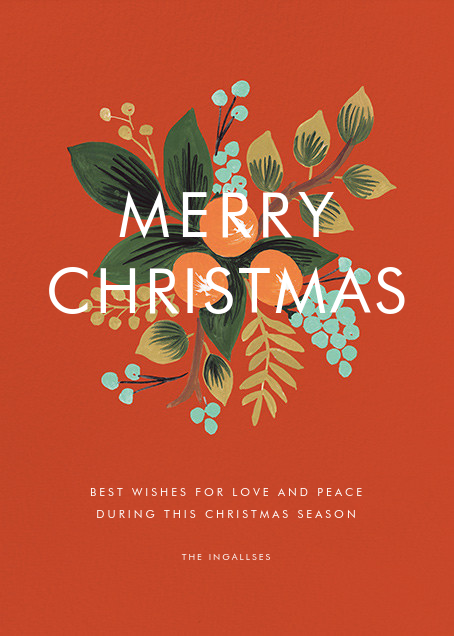 Orange Cluster (Christmas Greeting) - Rifle Paper Co. - Christmas