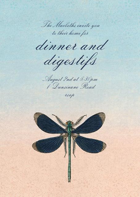 Dragonfly - John Derian - Dinner party