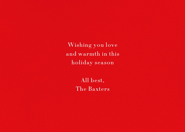Éclat (Horizontal Photo) - Red/Silver - Paperless Post - Holiday cards - card back