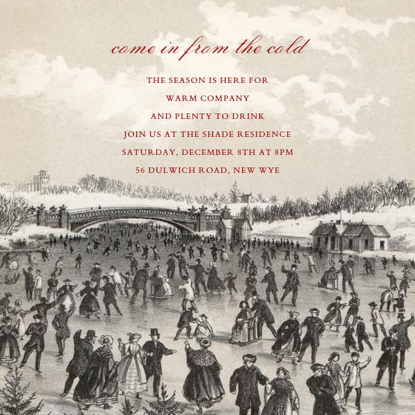Central Park Skating (Square) - John Derian - Winter entertaining