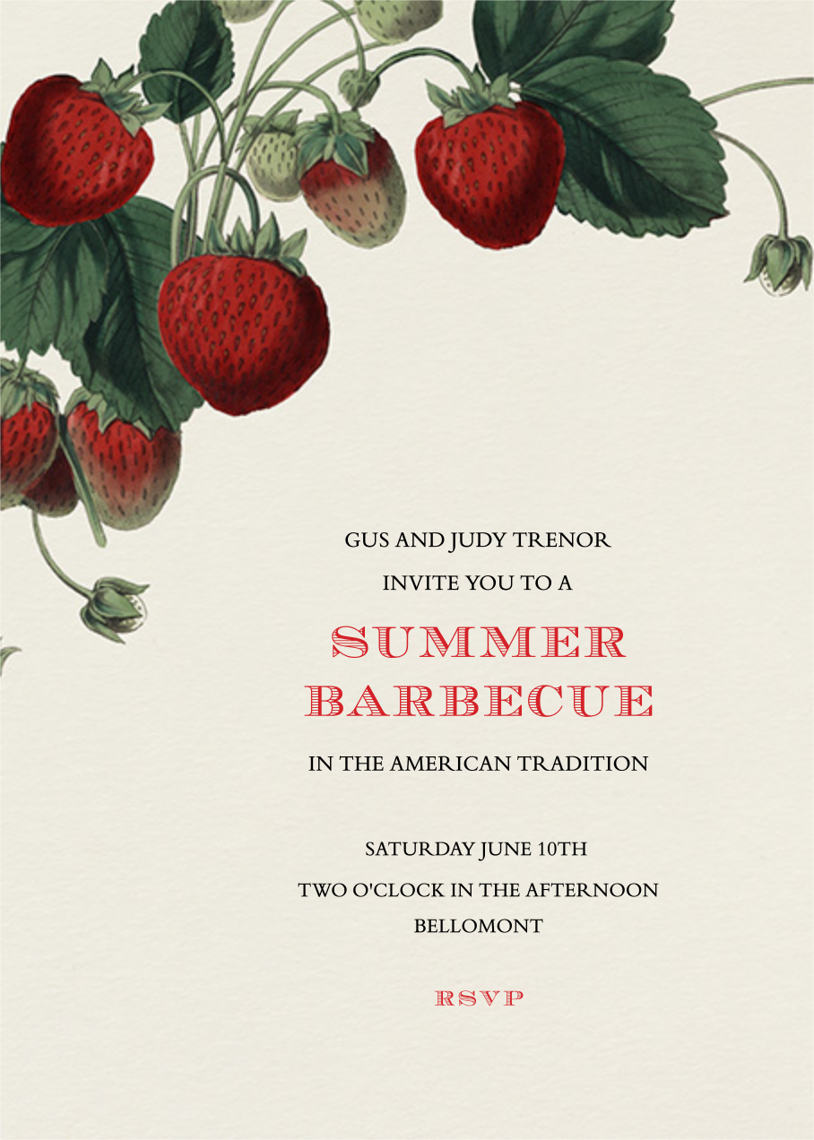 Strawberries (Tall) - John Derian - Fruity invitations