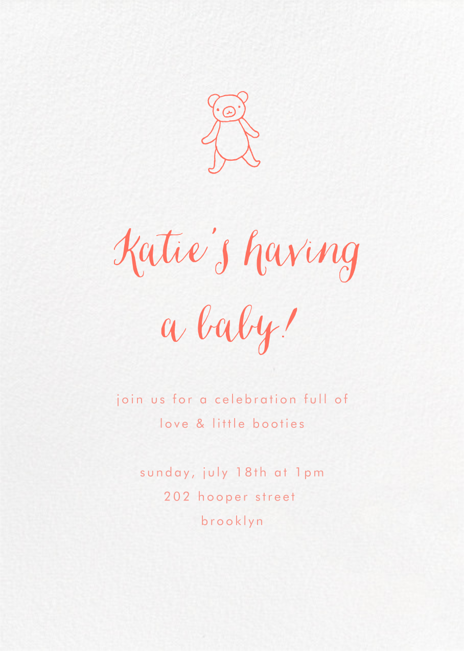 White (Tall) - Paperless Post - Woodland baby shower