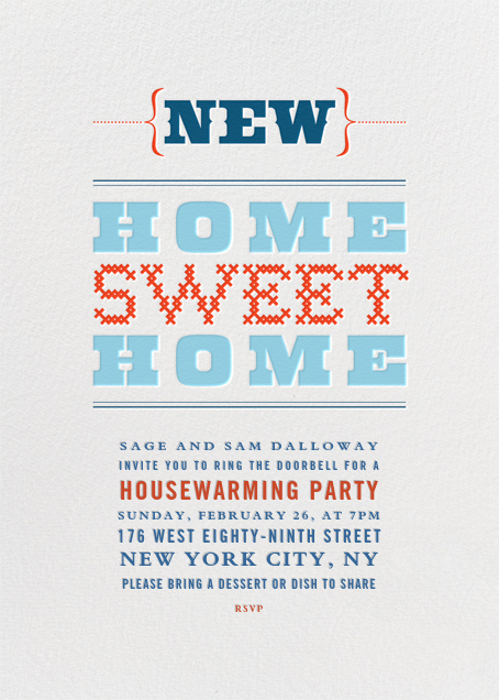 New Home Sweet Home - Crate & Barrel - Housewarming