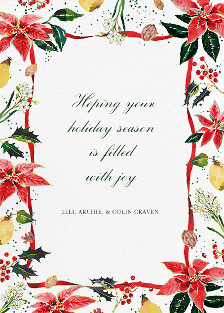 Holiday Harvest (Greeting) - Happy Menocal - Holiday cards