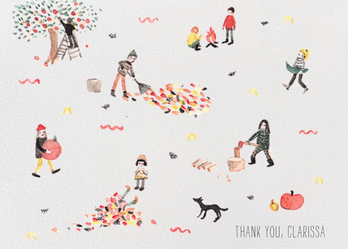 Fall (Sarah Burwash) - Red Cap Cards - Thank you