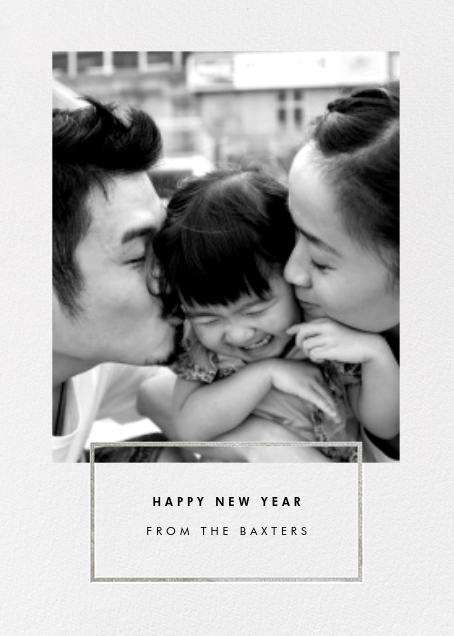 Placard - Silver - Paperless Post - New Year