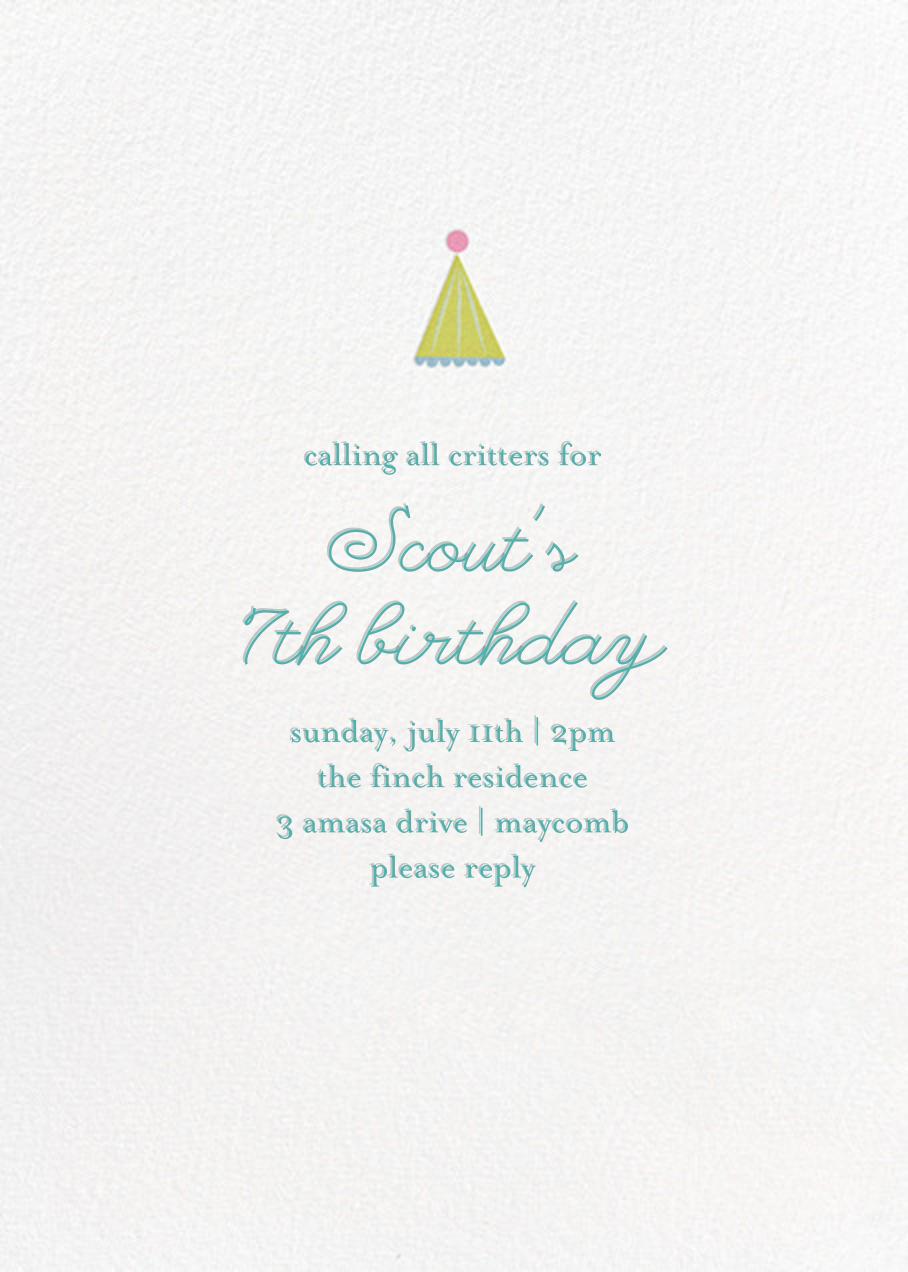 Sweet Celebration (Photo) - Little Cube - Kids' birthday - card back