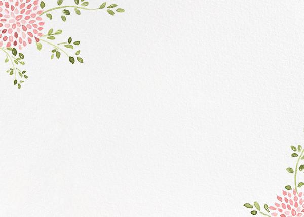 Dahlias (Stationery) - Blossom - Paperless Post - Notecards