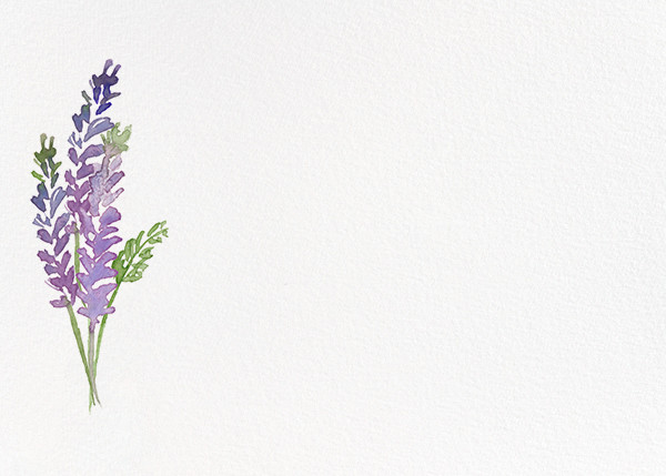 Mountain Flora (Stationery) - Lilac - Paperless Post - Notecards