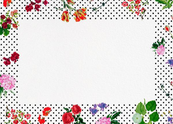 Botanical Dot - White (Thank You) - Oscar de la Renta - Wedding