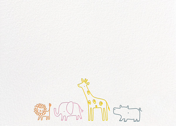 Jungle March - Little Cube - Notecards