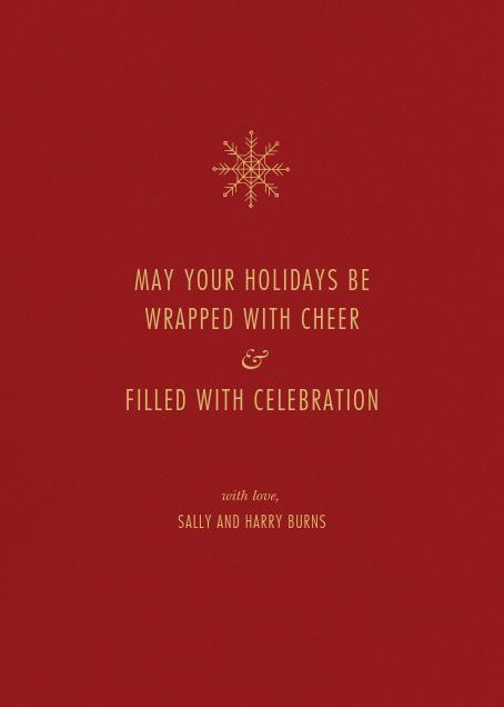 Bristlecone - Crimson - Paperless Post - Christmas - card back
