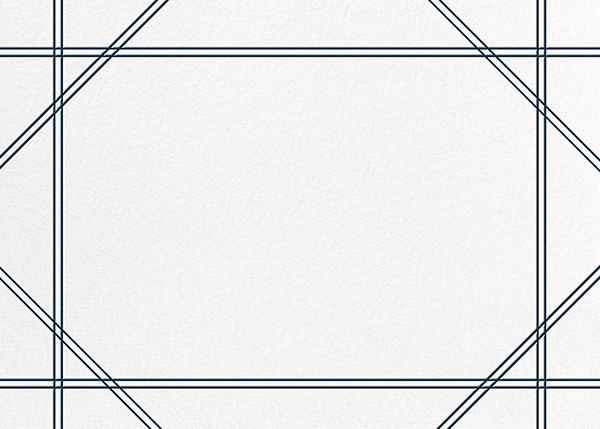 Caning (Stationery) - Navy - Jonathan Adler - Notecards