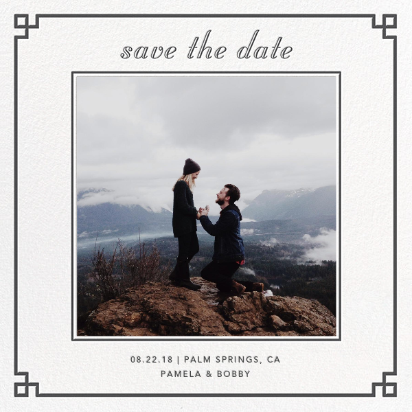 Nixon Border (Photo Save the Date) - Jonathan Adler - Classic
