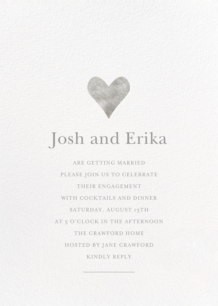 Luminous Heart - White/Silver - Sugar Paper - Engagement party
