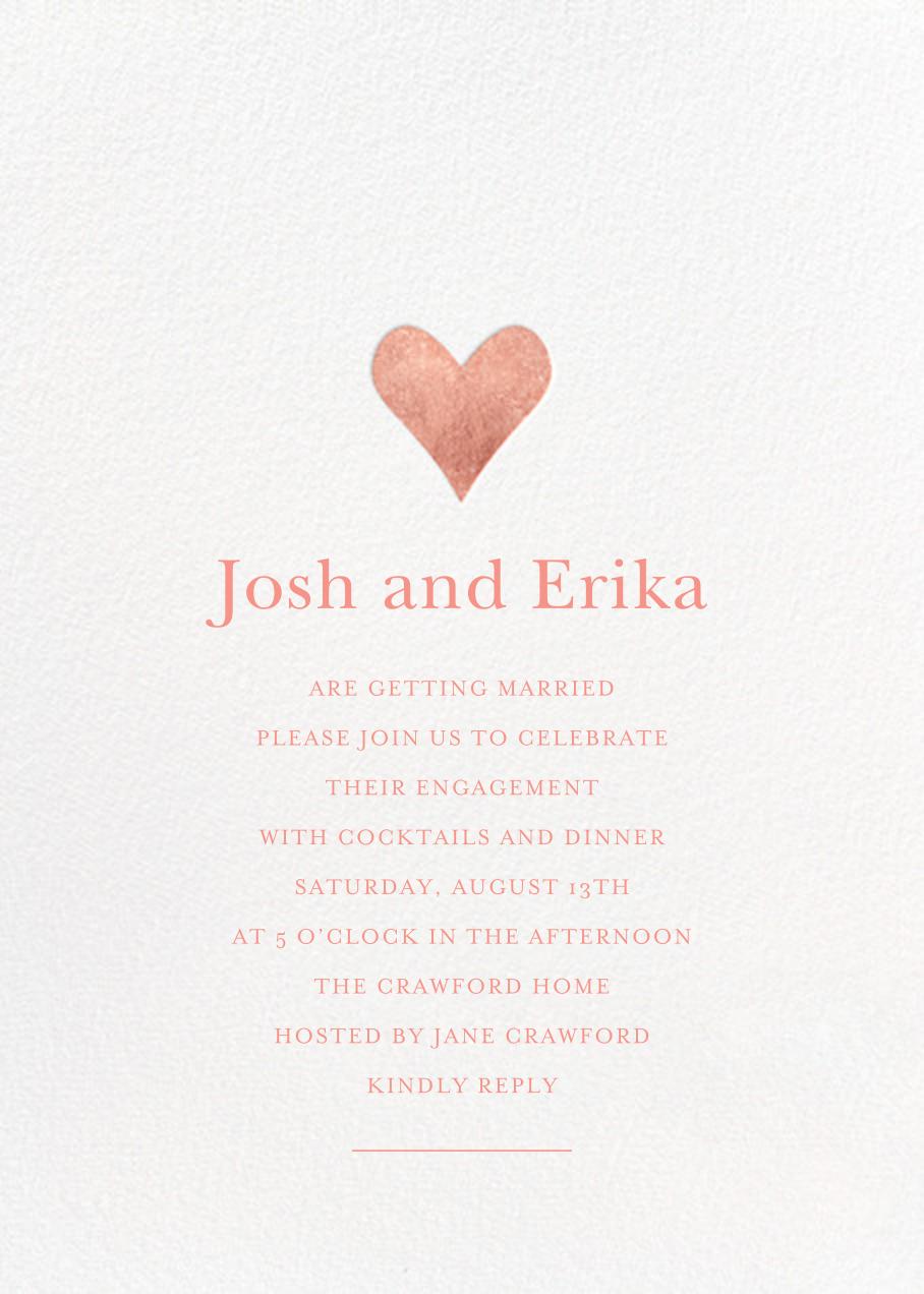 Luminous Heart - White/Rose Gold - Sugar Paper - Engagement party