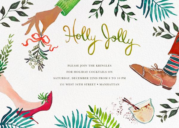 Mistletoe Mixer - Happy Menocal - Holiday cocktail party invitations