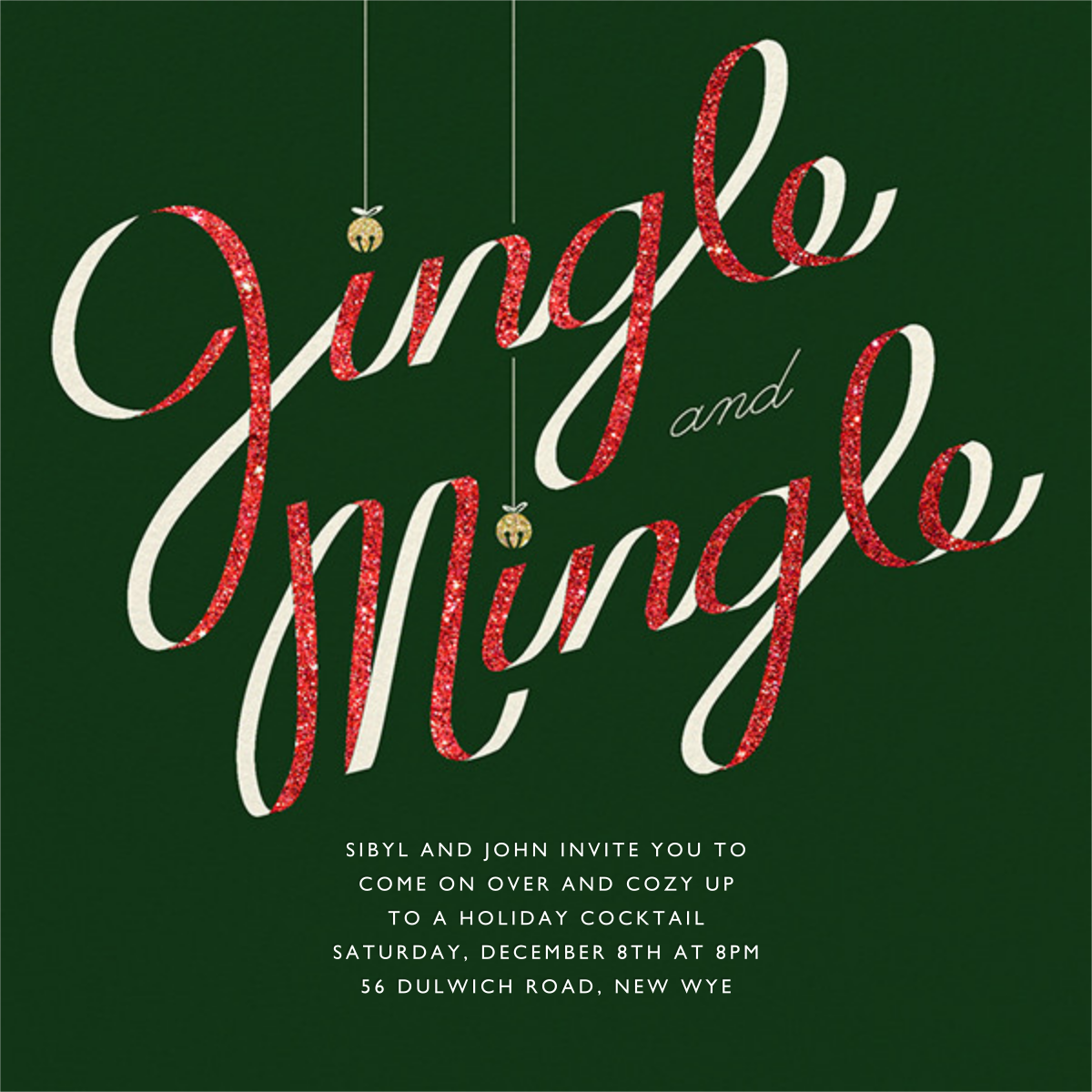 Jingle Bell Mingle - Paperless Post - Christmas party