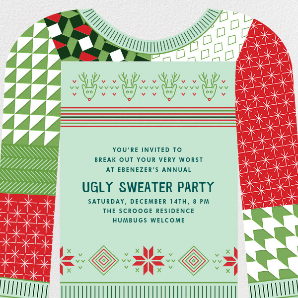 Patchwork Party - Paperless Post - Christmas party