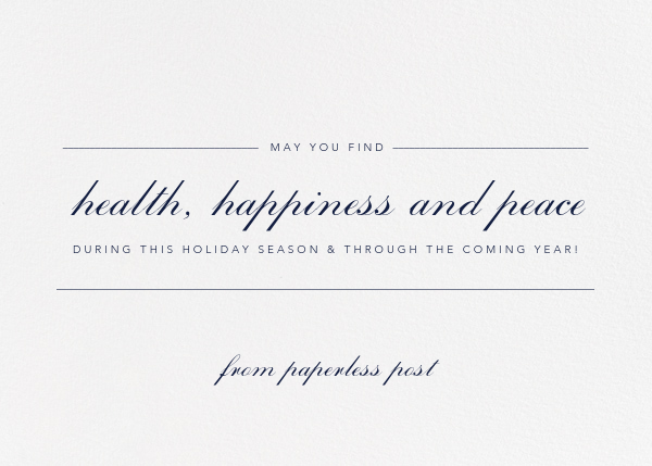 Ivory - Horizontal - Paperless Post - Business holiday cards