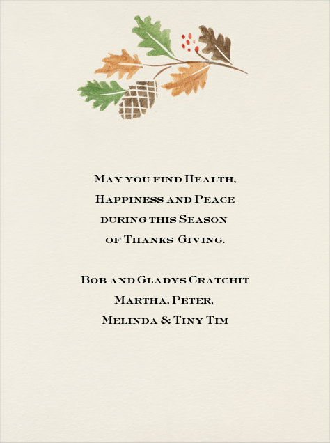 Giving Thanks - Paperless Post - Thanksgiving - card back