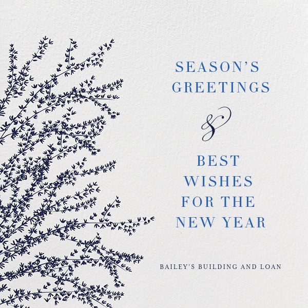 Forsythia - Navy - Paperless Post - Business holiday cards