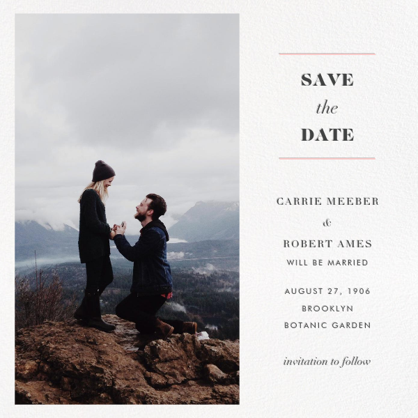Online save the date free