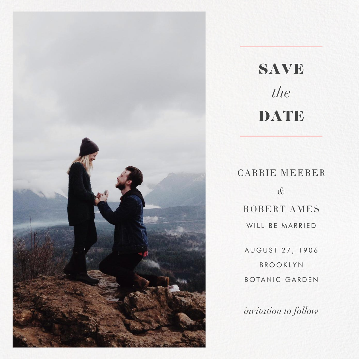 Split Square (Save the Date) - Paperless Post - Classic