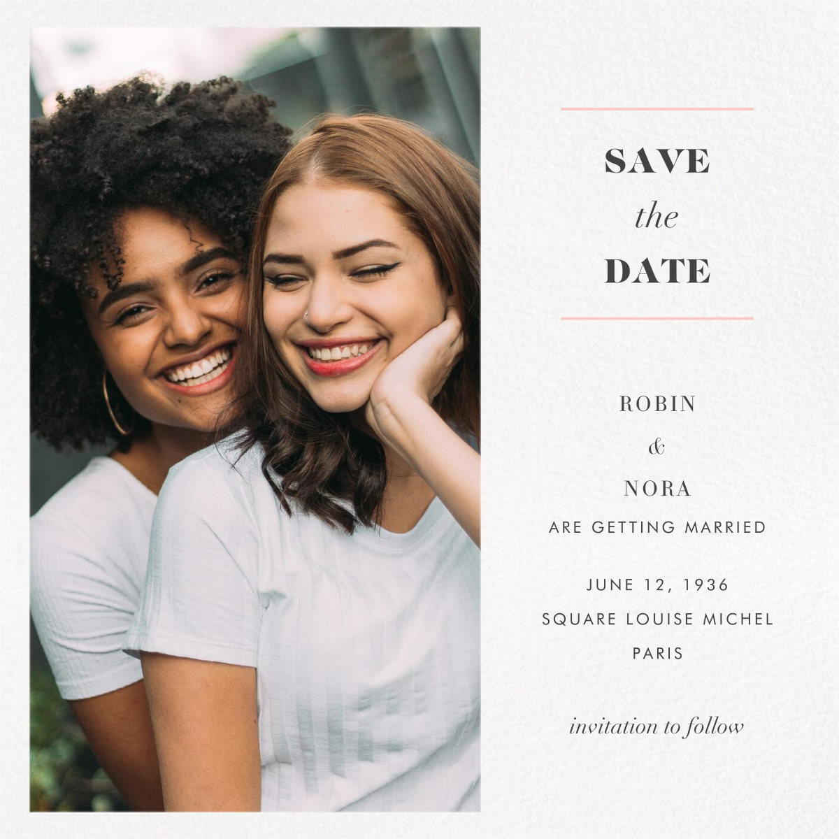 Split Square (Save the Date) - Paperless Post