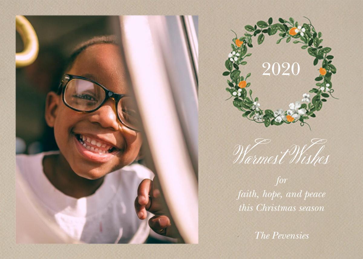 Kumquat Wreath - Paperless Post - Holiday cards