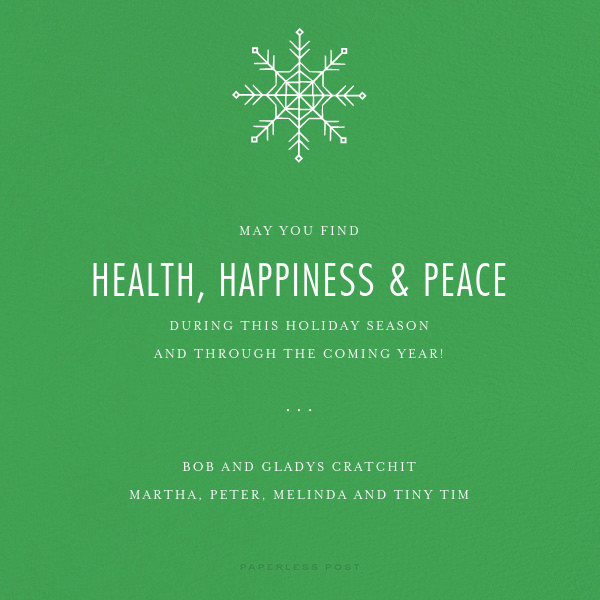 Full-Page Photo (Double-Sided) - Emerald - Paperless Post - Christmas - card back