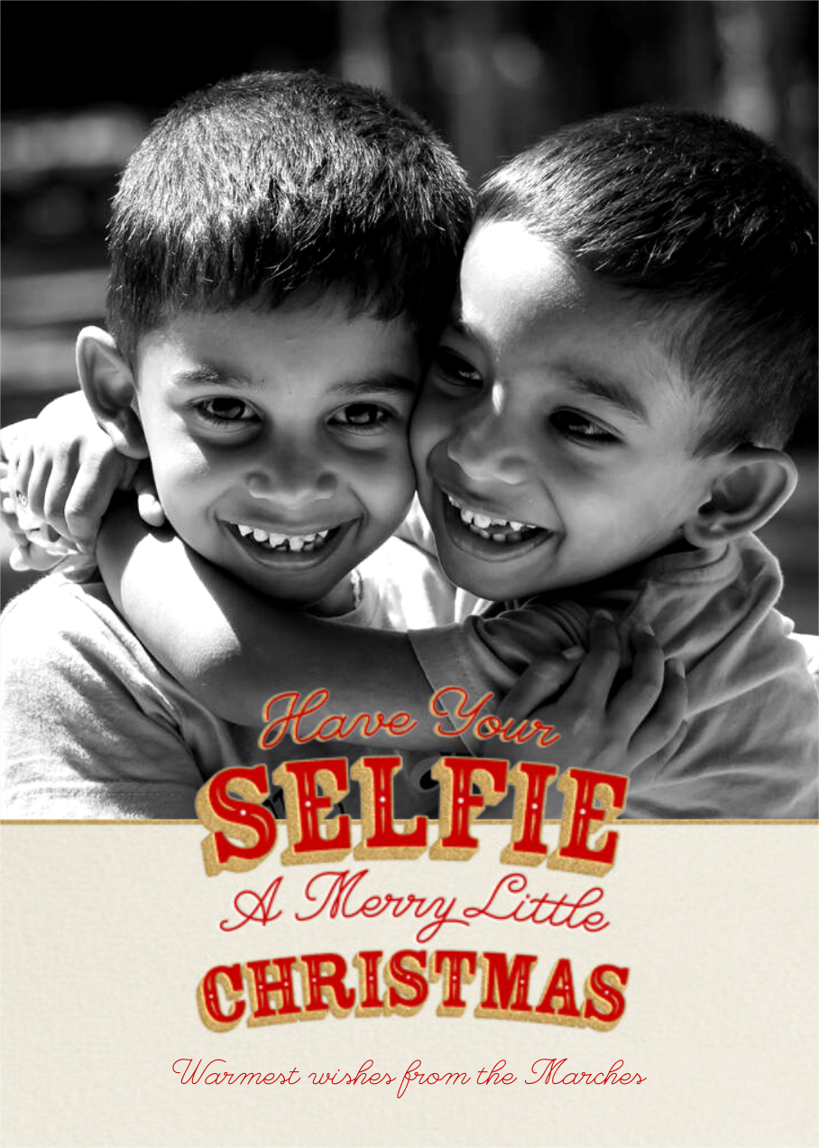 A Selfie Little Christmas - Paperless Post - Christmas