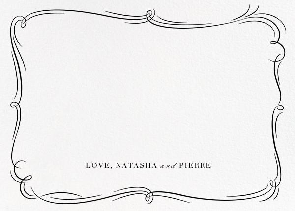 Plume (Photo Stationery) - Gold - Paperless Post - Wedding stationery - card back