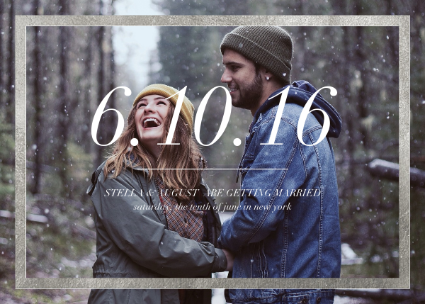 Foiled Frame (Photo) - Silver - Paperless Post - Save the date