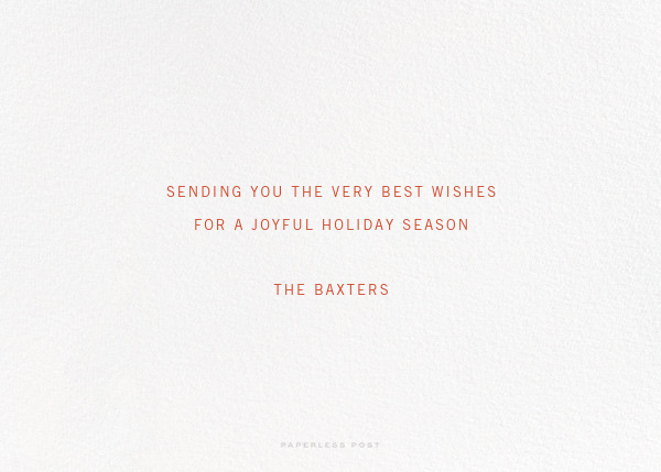 Ribbon of Joy - Paperless Post - Holiday cards - card back