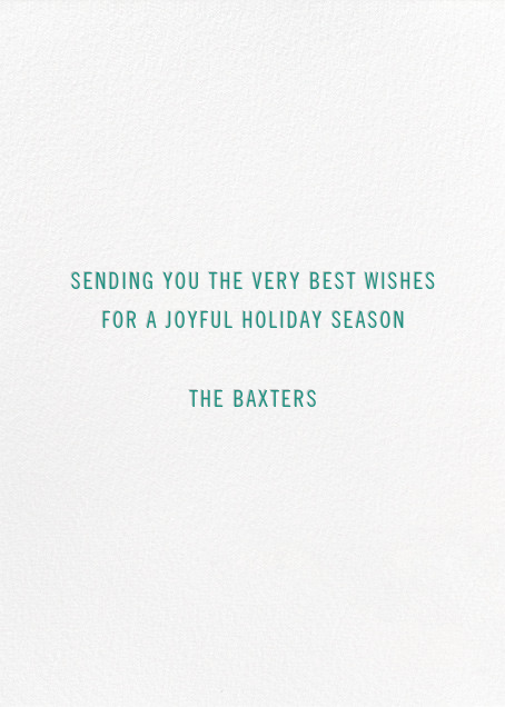 Beacon of Cheer - Green - Paperless Post - Holiday cards - card back