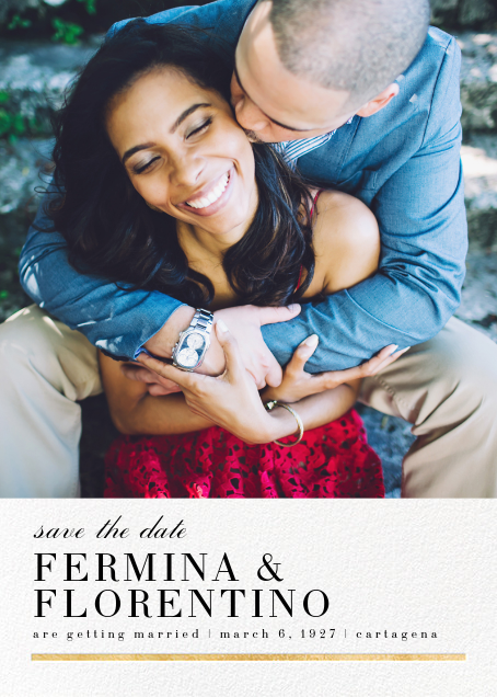 Underscore (Photo Save the Date) - Gold - Paperless Post - Photo